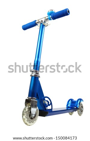 Kick Scooter. Isolated with clipping path.