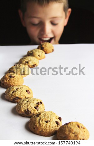 kid chocolate chip cookie trail