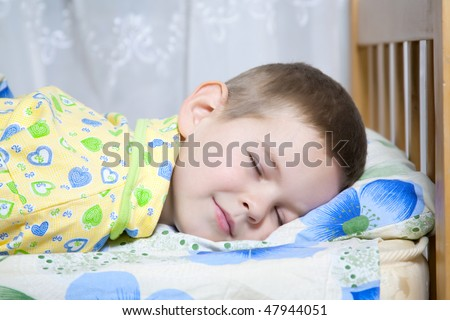 Kid dreams of sweet dreams, and fairy worlds