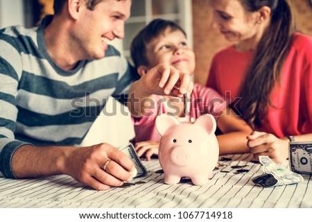 Kid earning money for future #1067714918