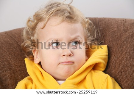 Kid - face expression - stock photo