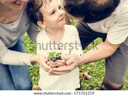 Kid Gardening Greenery Growing Leisure #575761219
