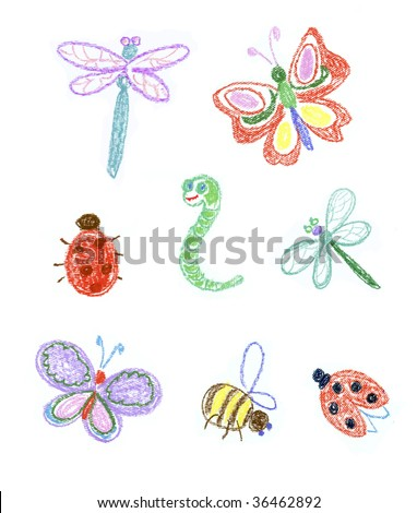 Kid illustration of insects