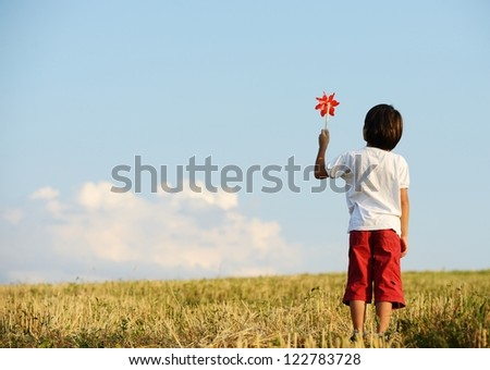 Kid on field