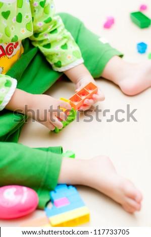 kid play plastic toy