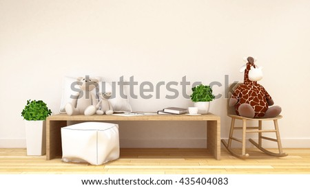 kid room or family room-3d rendering #435404083