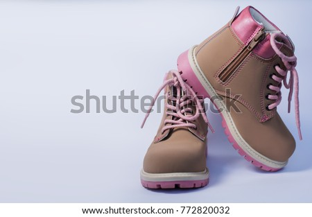 kid's fashion pink boots