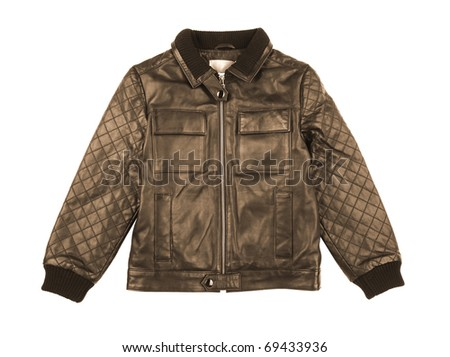Fringed leather smooth cowhide leather jacket with German Silver