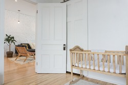 Kid's room with open door
