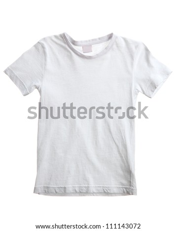 kid white t-shirt isolated on white