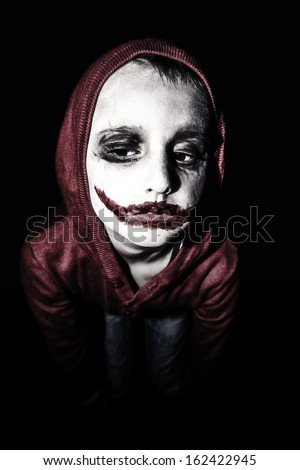 Kid with halloween make up