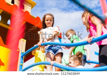 Kids are considering a new playground #1127603849