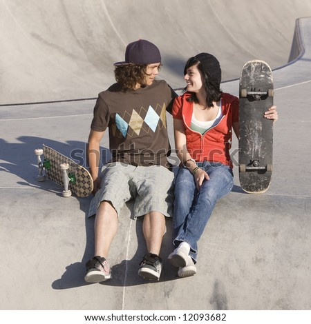 Kids at skatepark
