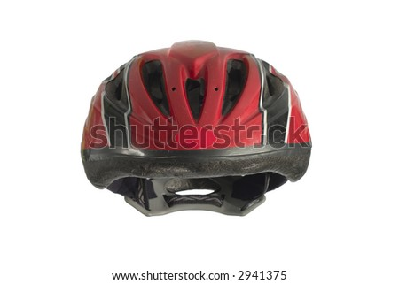 kids' bike helmet with clipping path