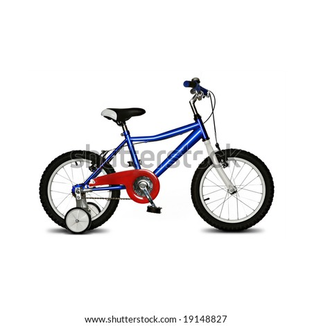 kids bike isolated on white background