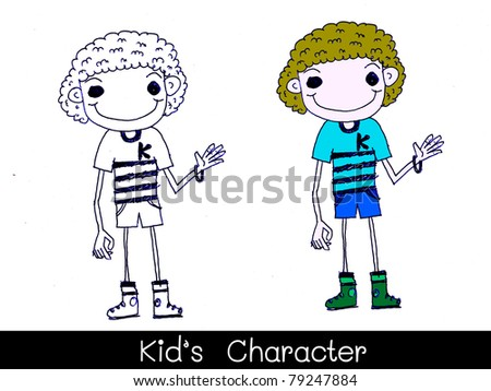 clipart cartoon characters. stock photo : kids cartoon boy cartoon