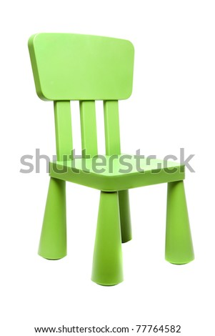 Kids chair isolated