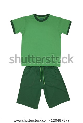 kids clothes set isolated on white background