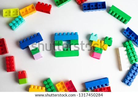 Kids development, Building blocks and construction #1317450284