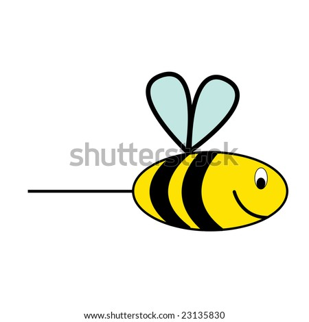 kids drawing honey bee or wasp stock photo 23135830
