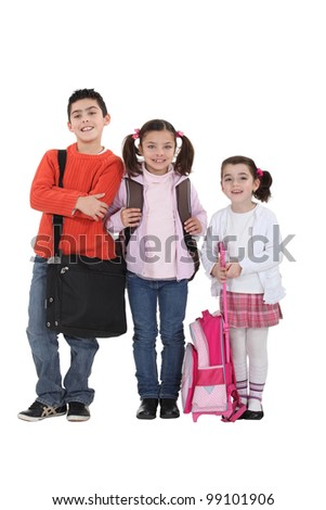 Kids going back to school.