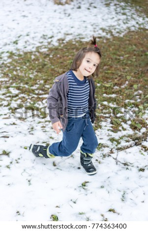 184d79748 Kids having fun time in winter snow