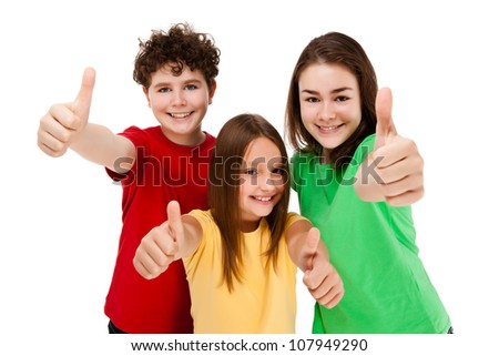 Kids holding books isolated on white background