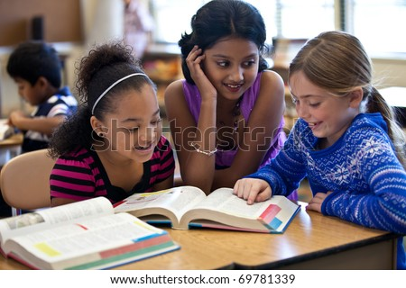 Kids in Classroom Studying