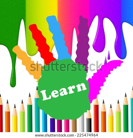 Kids Learn Representing Educated Handprints And Training