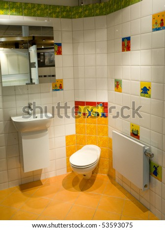 Kids modern bathroom