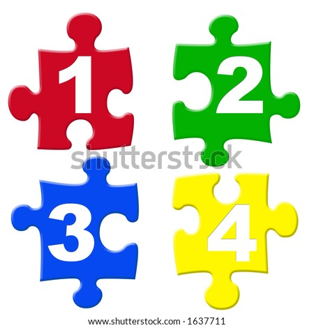 Kids number puzzles