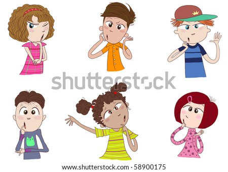stock photo kids or teens of various races are thinking wondering pondering 58900175 board cgiworld teen planet, board cgiworld teen planet, small flat breasts ...