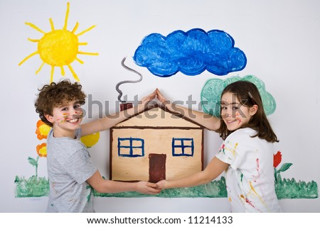 Kids Painting on Kids Painting Stock Photo 11214133   Shutterstock