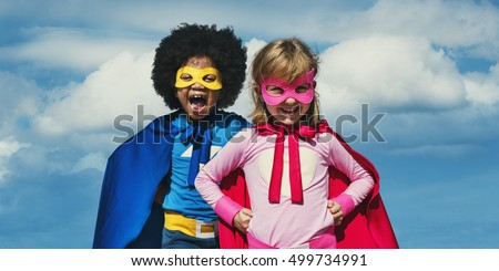 Kids Playing Fun Freedom Costume Concept #499734991