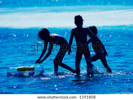Kids playing in the water