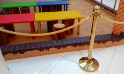 Kids room play table and with toy wooden chairs like an dining room