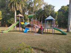 kids slide in the park