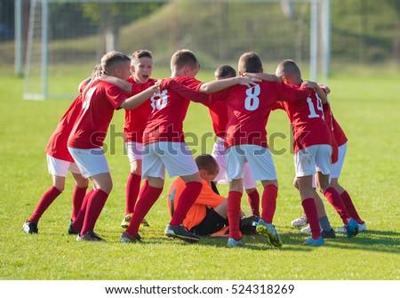 kids soccer football team in...