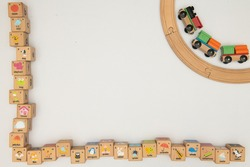 Kids Toys Background Frame Top View