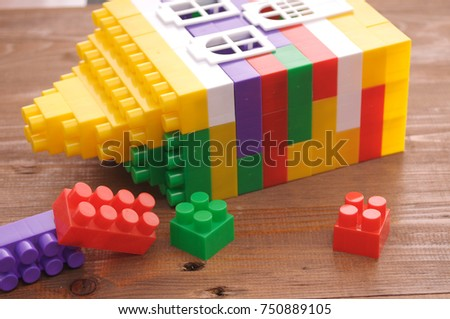 kids toys on a wooden table #750889105
