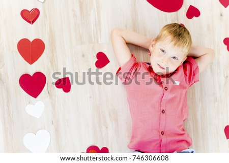 Kids Valentine day #746306608