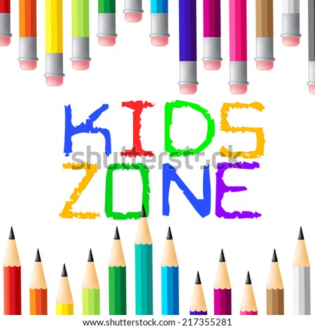 Kids Zone Indicating Social Club And Child