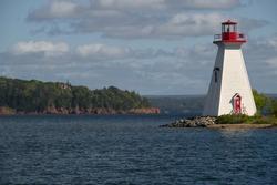 Kidston Island Lighthouse seen from the Baddeck, Nova Scotia Harbor 4966