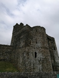 Kidwelly Castle in Carmarthenshire Wales
