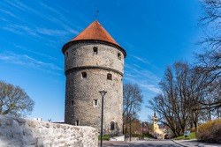 Kiek-In-De-Kok artillery tower in Tallinn, Estonia at sunny spring day