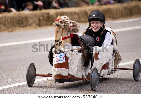 KIEL, GERMANY - JUNE 20: Soapbox derby on the occasion of the Kiel Week 2010, June 20, 2010 in Kiel, Germany