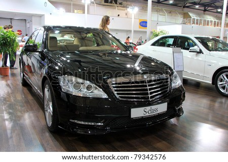"KIEV - MAY 26: Mercedes-Benz S-class at yearly automotive-show ""SIA 2011"". May 26, 2011 in Kiev, Ukraine."