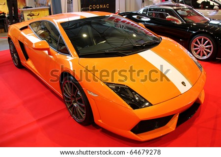 "KIEV - OCTOBER 29: Yearly automotive-show ""Retro & Exotica Motor Show"". October 29, 2010 in Kiev, Ukraine. Lamborghini Gallardo"