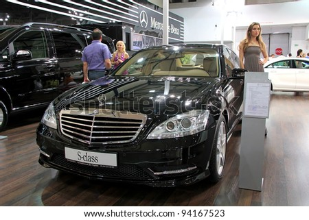 "KIEV - SEPTEMBER 10: Mercedes-Benz S-class at yearly automotive-show ""Capital auto show 2011"". September 10, 2011 in Kiev, Ukraine."