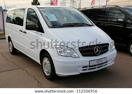"KIEV - SEPTEMBER 7: Mercedes-Benz Vito (V-Class) at yearly automotive-show ""Capital auto show 2012"". September 7, 2012 in Kiev, Ukraine"